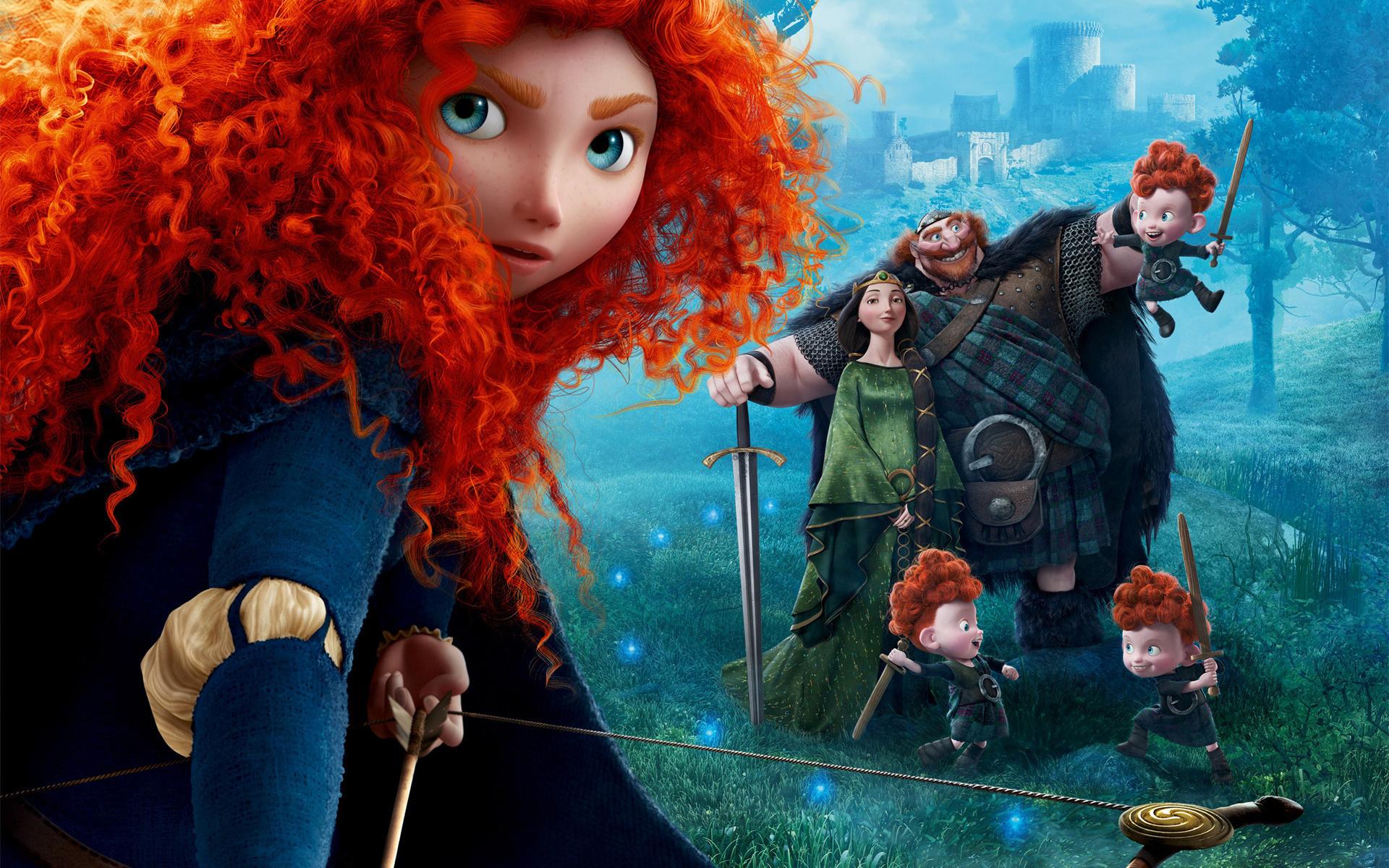 Принцессы с рыжими волосами