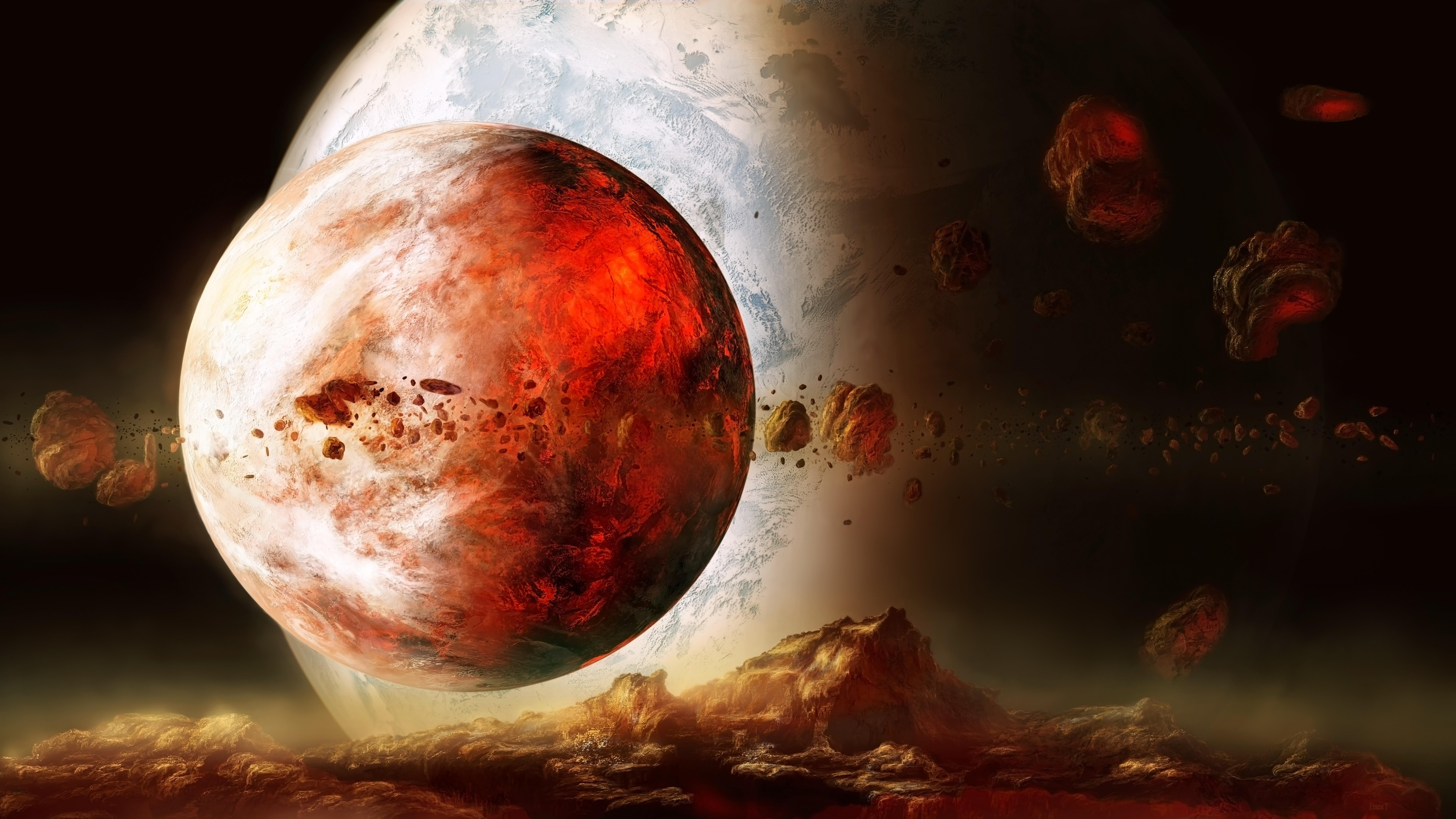 Обои огненная планета картинки на рабочий стол на тему Космос - скачать  № 433782  скачать
