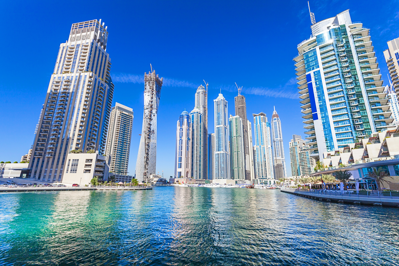 страны архитектура небоскреб рассвет Дубаи объединенные арабские эмираты  № 2209963 загрузить