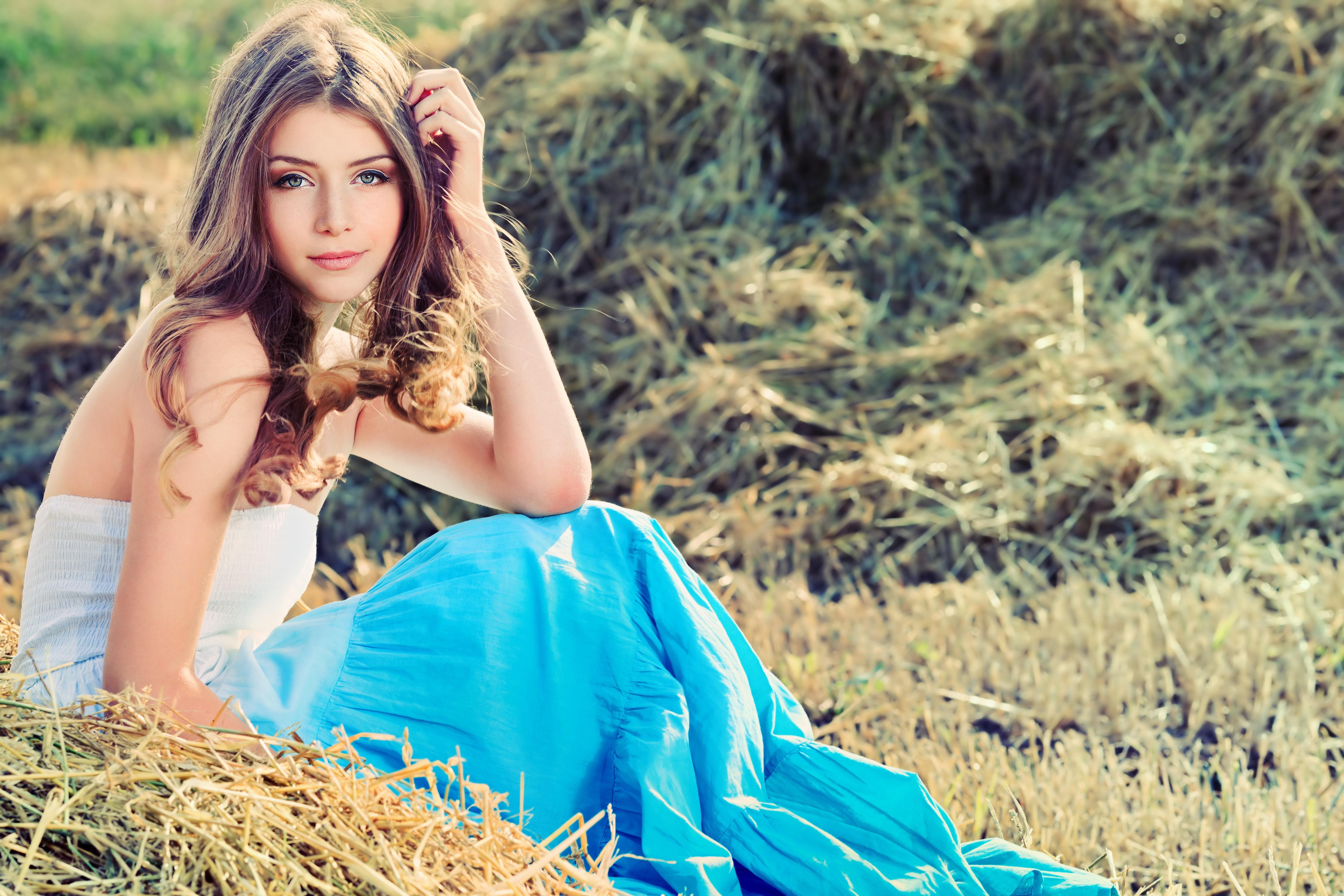 длинные волосы девушка сорочка природа  № 1819635  скачать