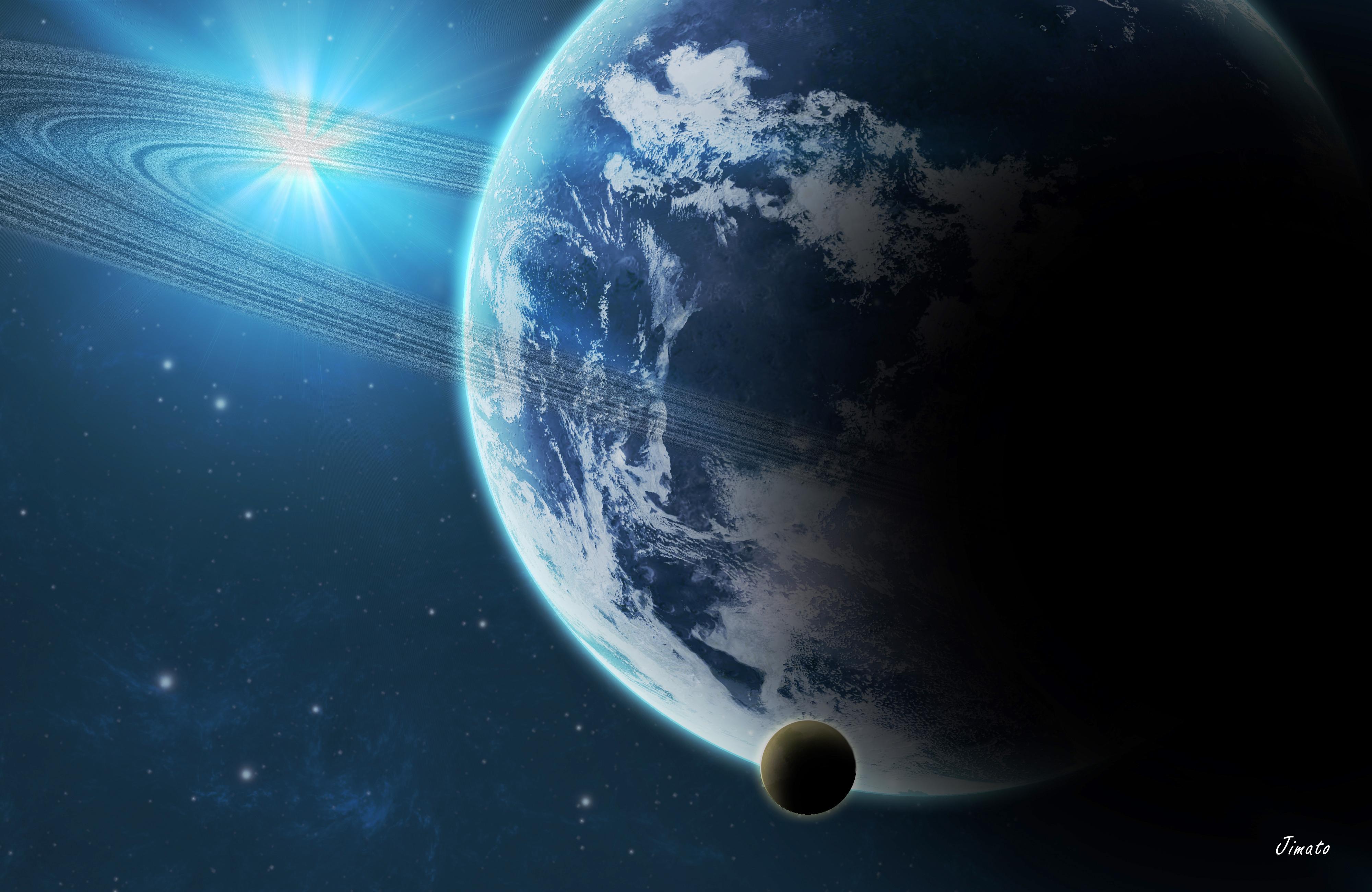 Обои Между планет картинки на рабочий стол на тему Космос - скачать  № 1763154 без смс