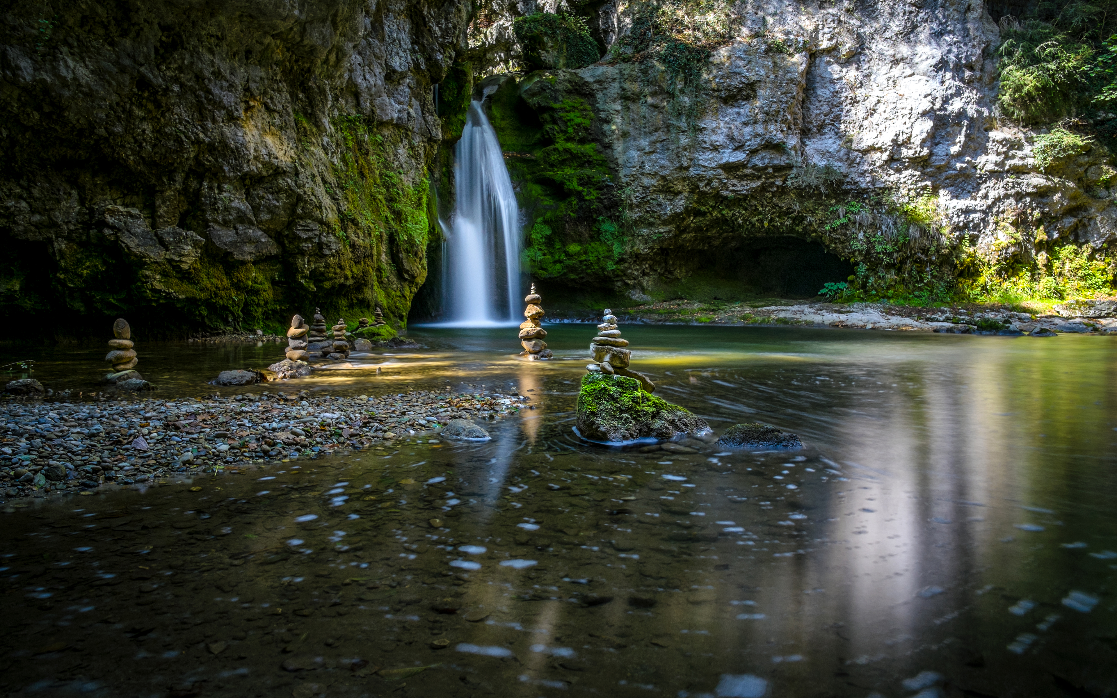 водопад водоем waterfall the pond  № 736703 без смс