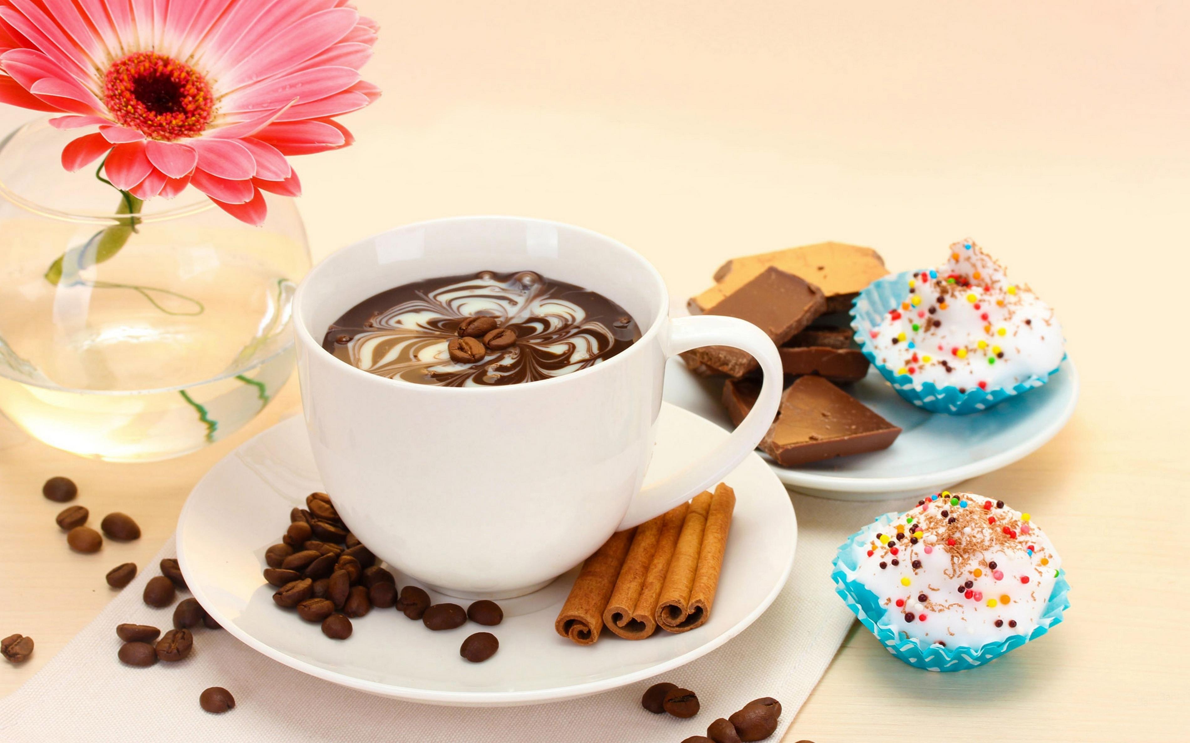 Кофе с пирожными открытки 28