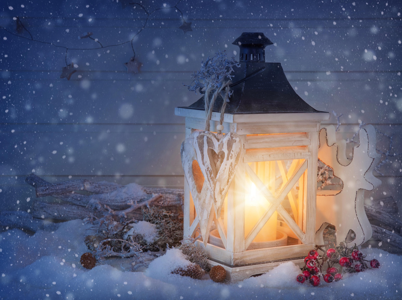 лампа свеча снег рождество lamp candle snow Christmas  № 3982713 бесплатно