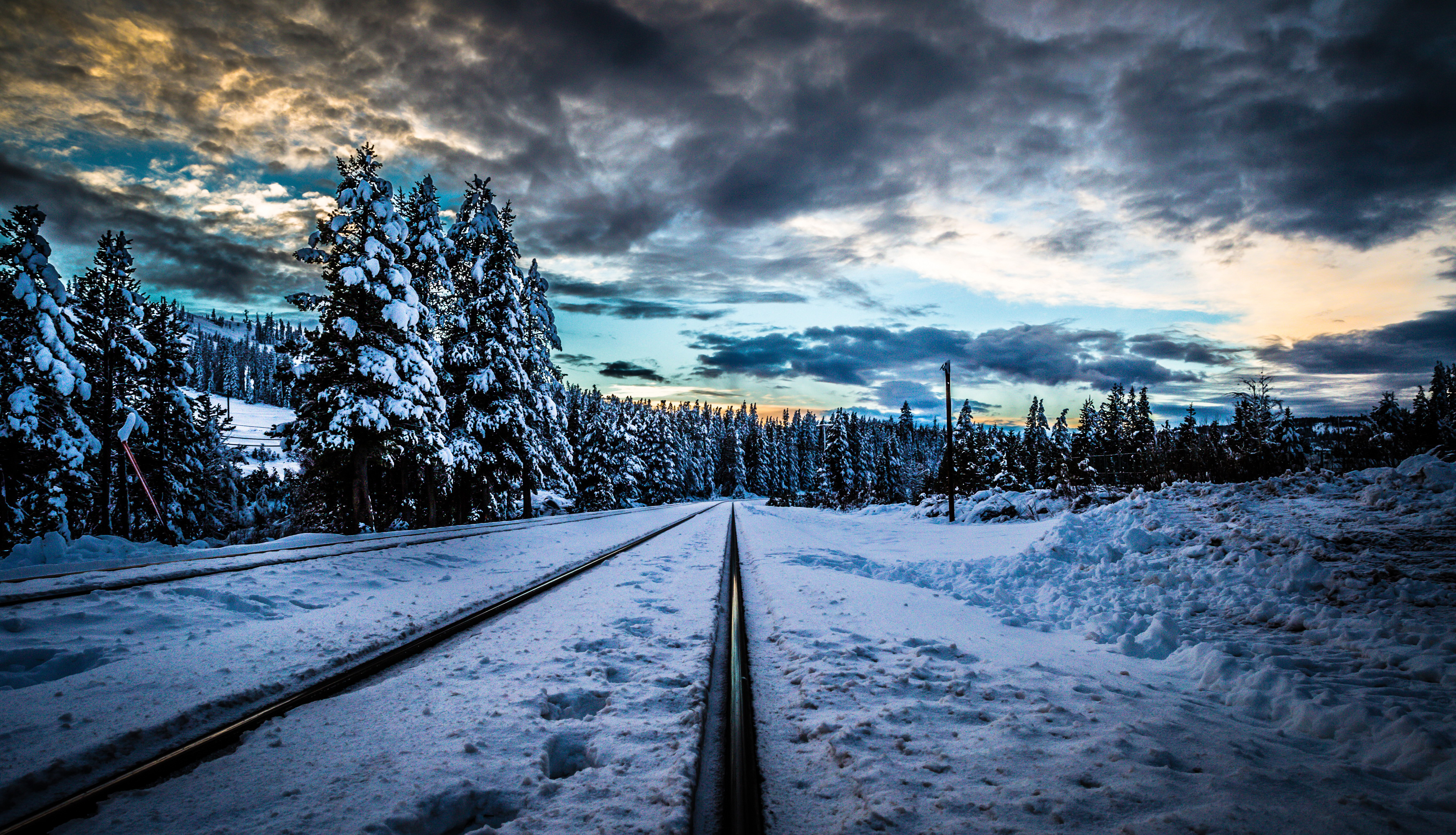 дорога зима вечер снег  № 3902524 загрузить