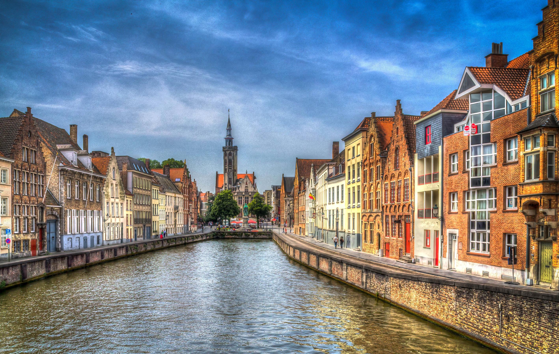 страны архитектура река Бельгия Брюгге  № 1730831  скачать