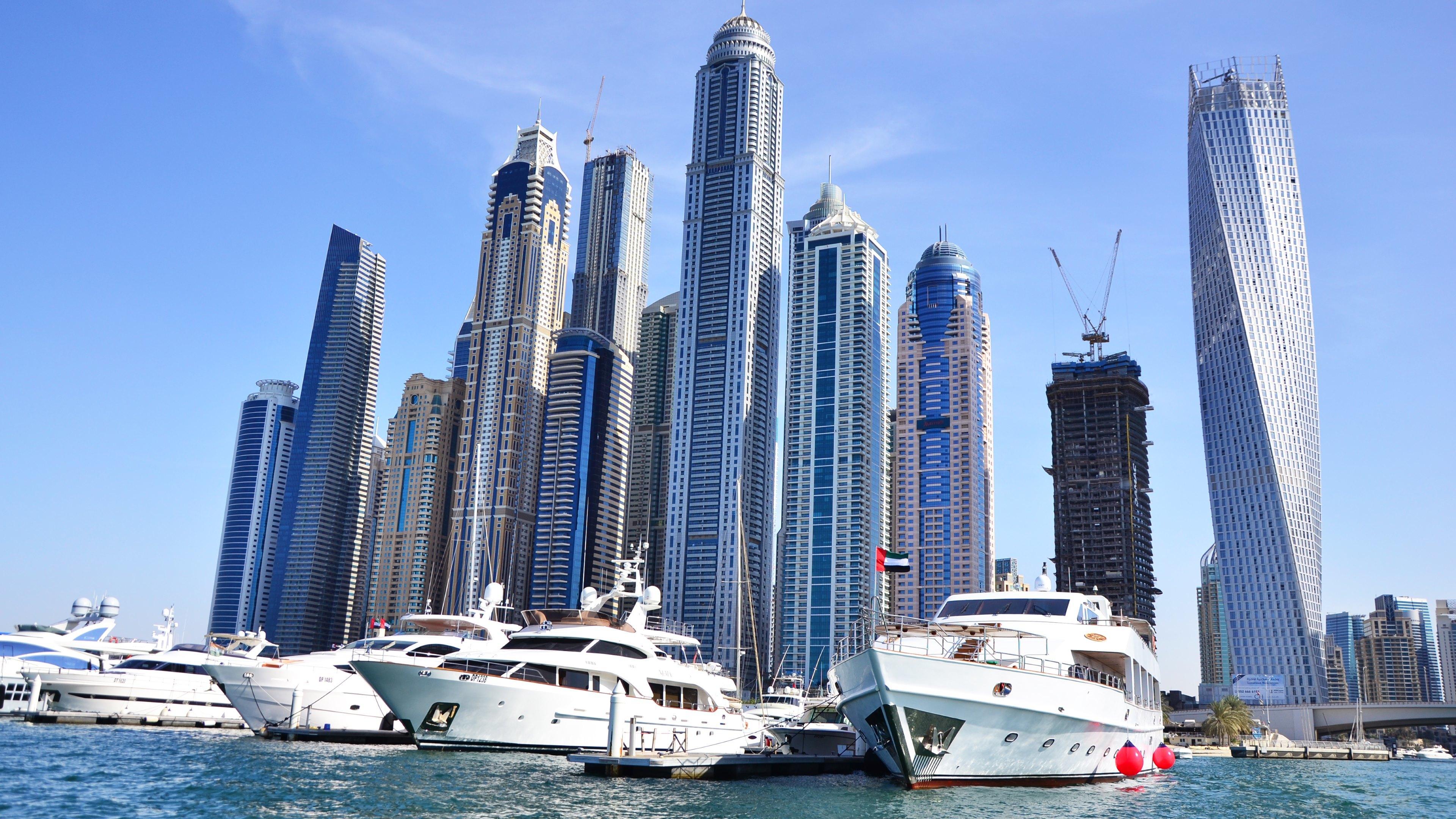 страны архитектура небоскреб рассвет Дубаи объединенные арабские эмираты  № 2209975 без смс