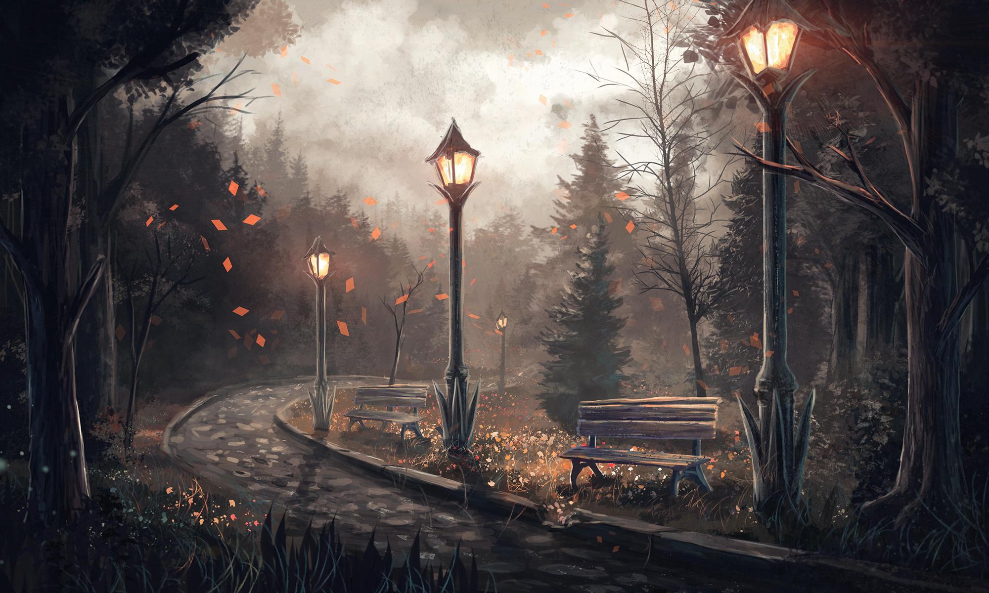 природа фонари  № 374950 без смс