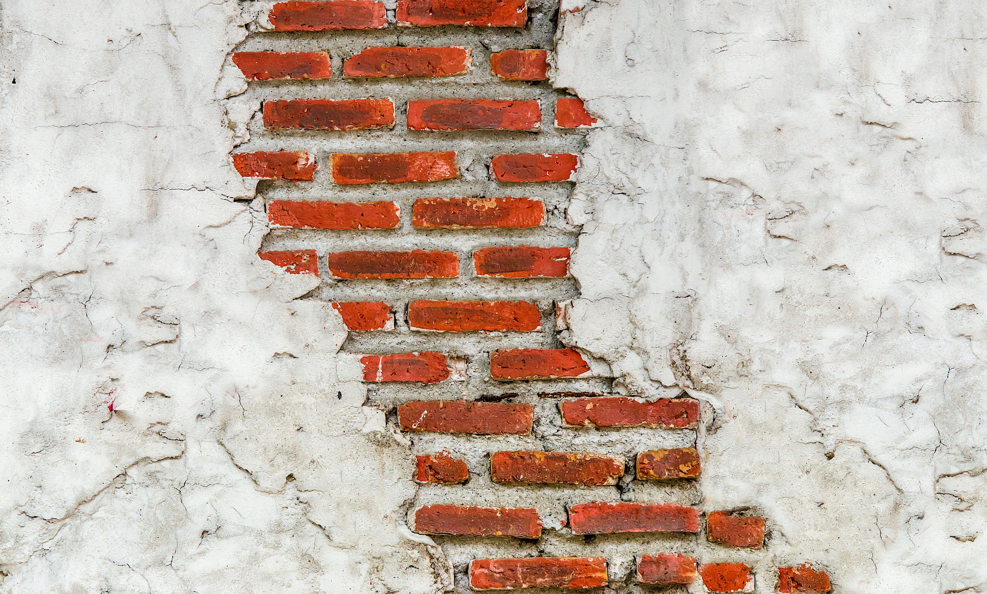 стена кирпичи раскол  № 3916029  скачать