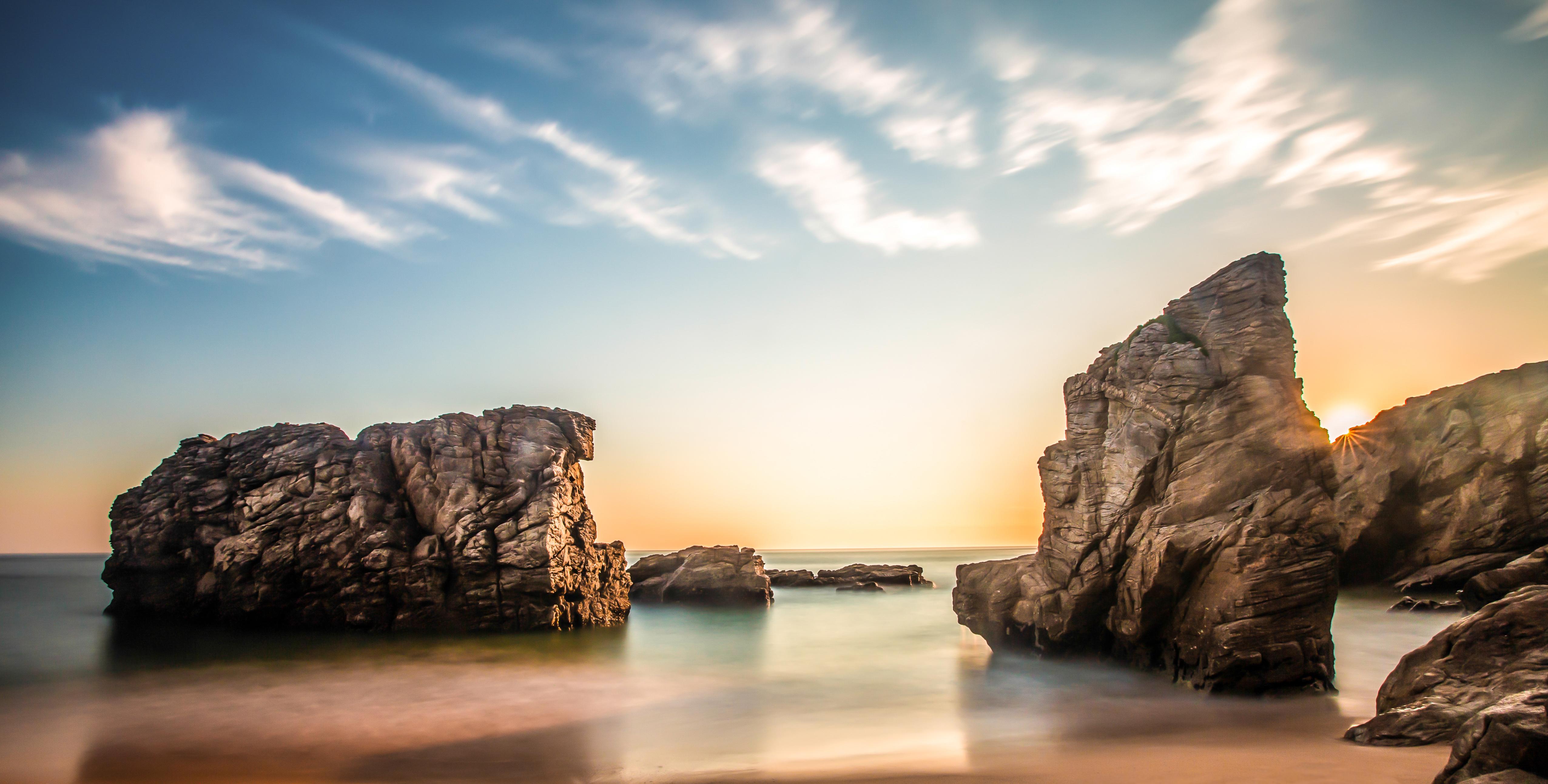 Скалы море природа  № 3800333 бесплатно