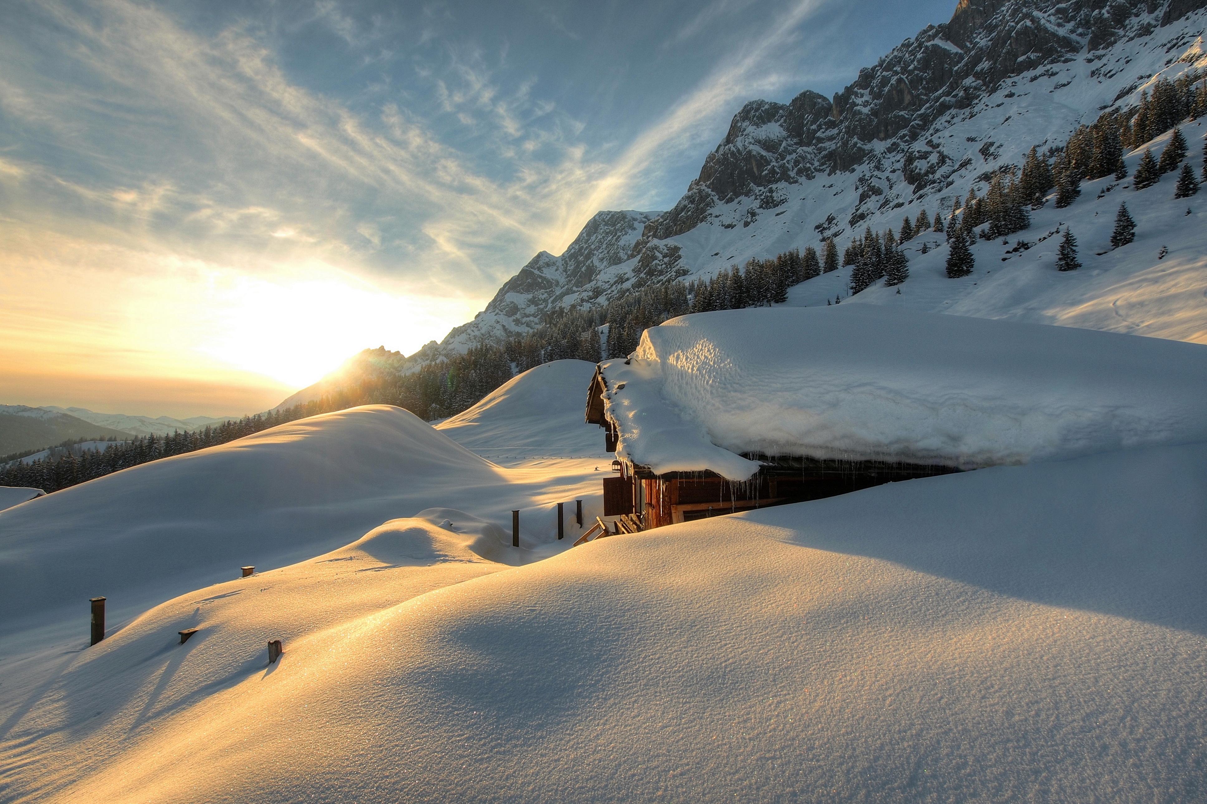 Снег на горных склонах  № 2944905 загрузить