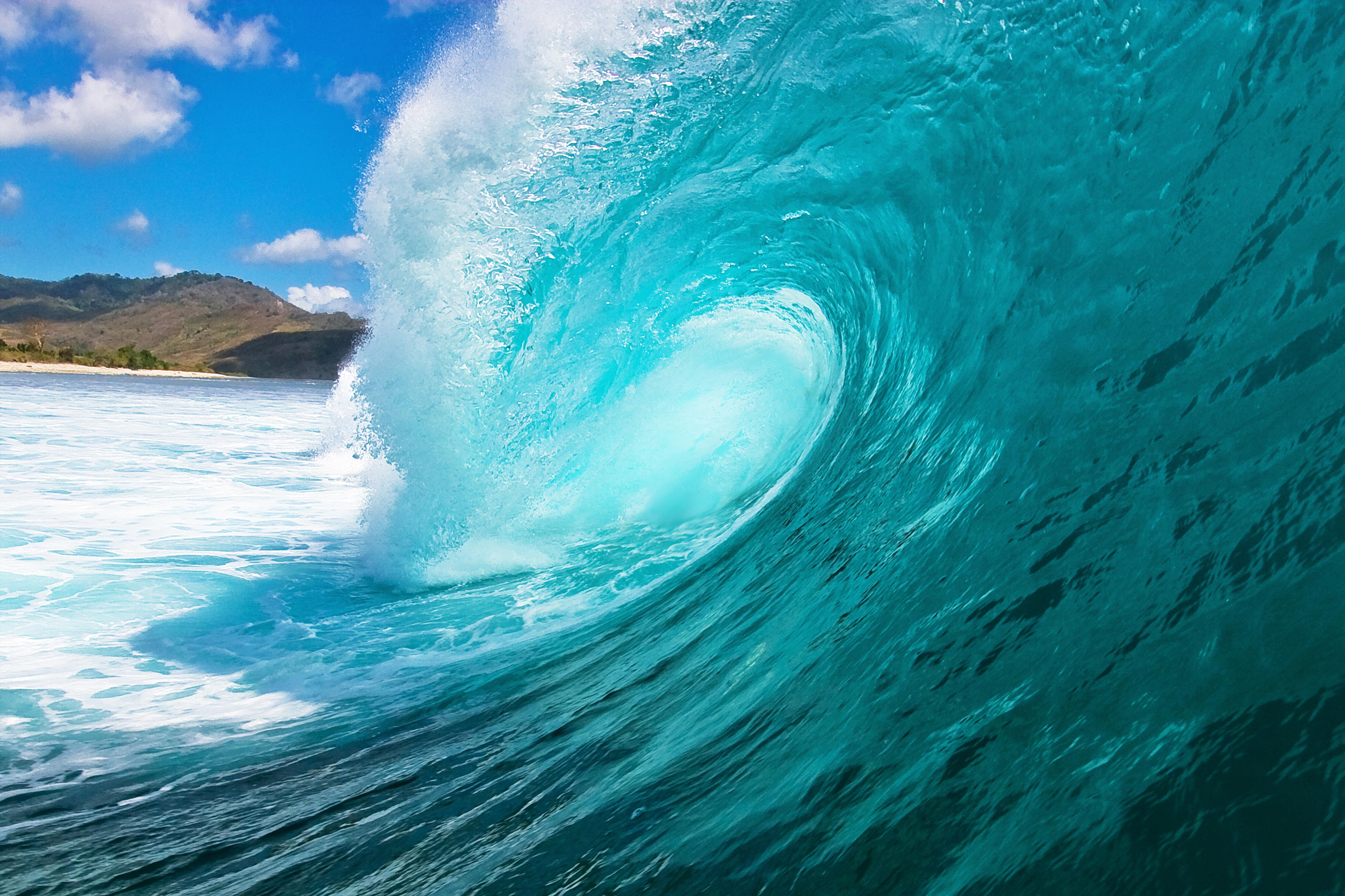природа волна радуга вода  № 1039604 бесплатно