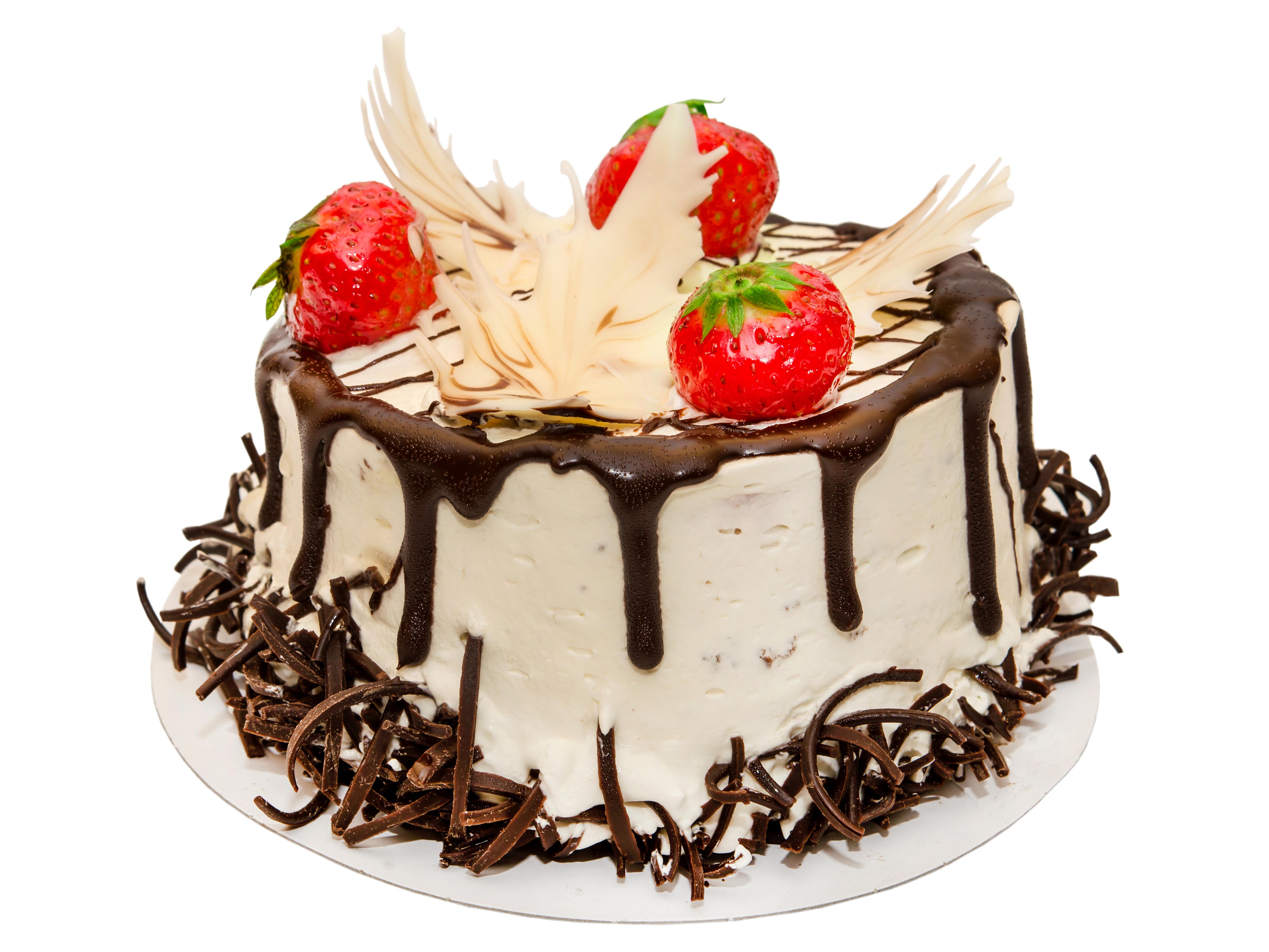 Торт на белом фоне