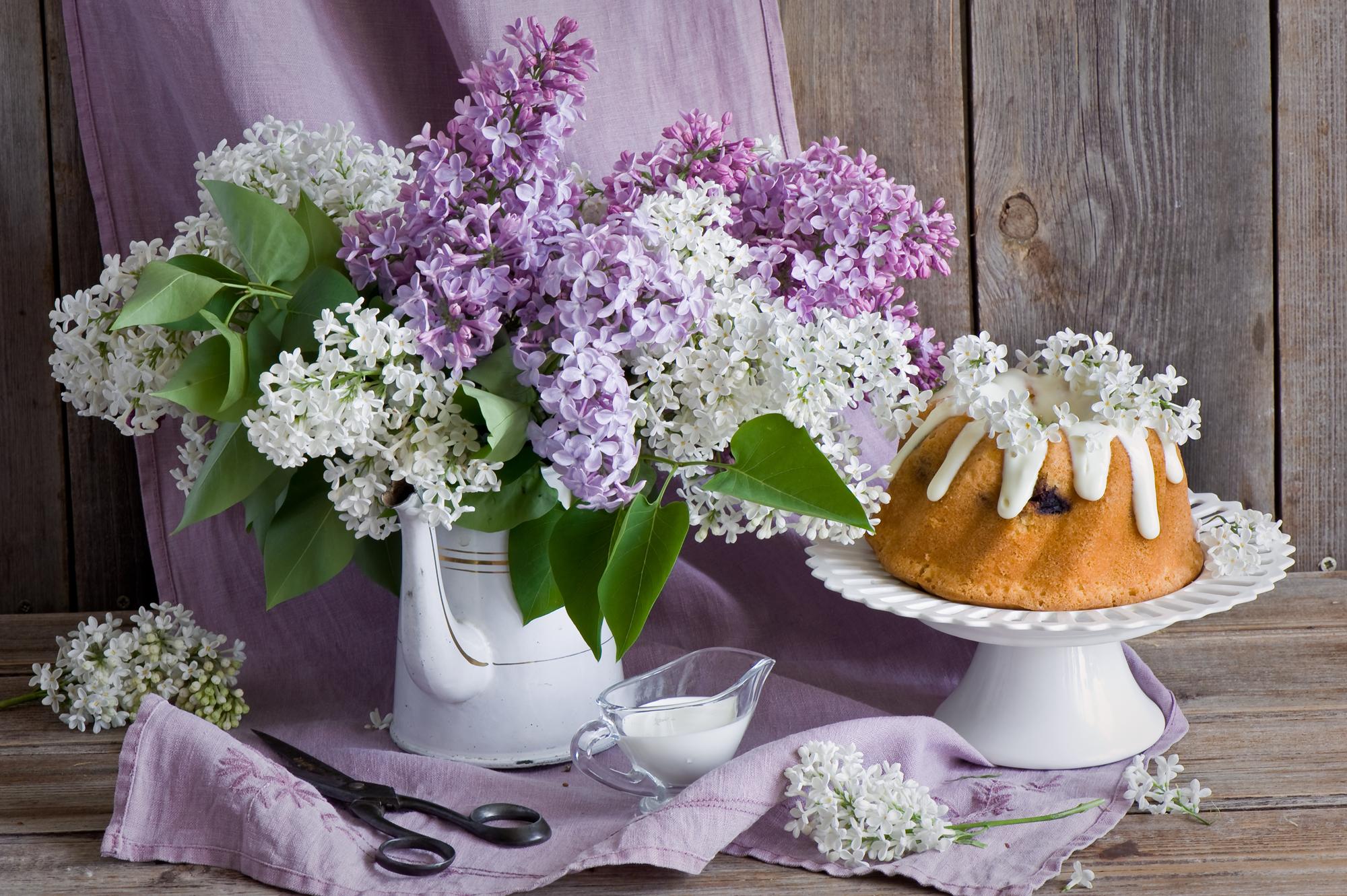 природа цветы сирень сахар блюдо  № 1154295  скачать