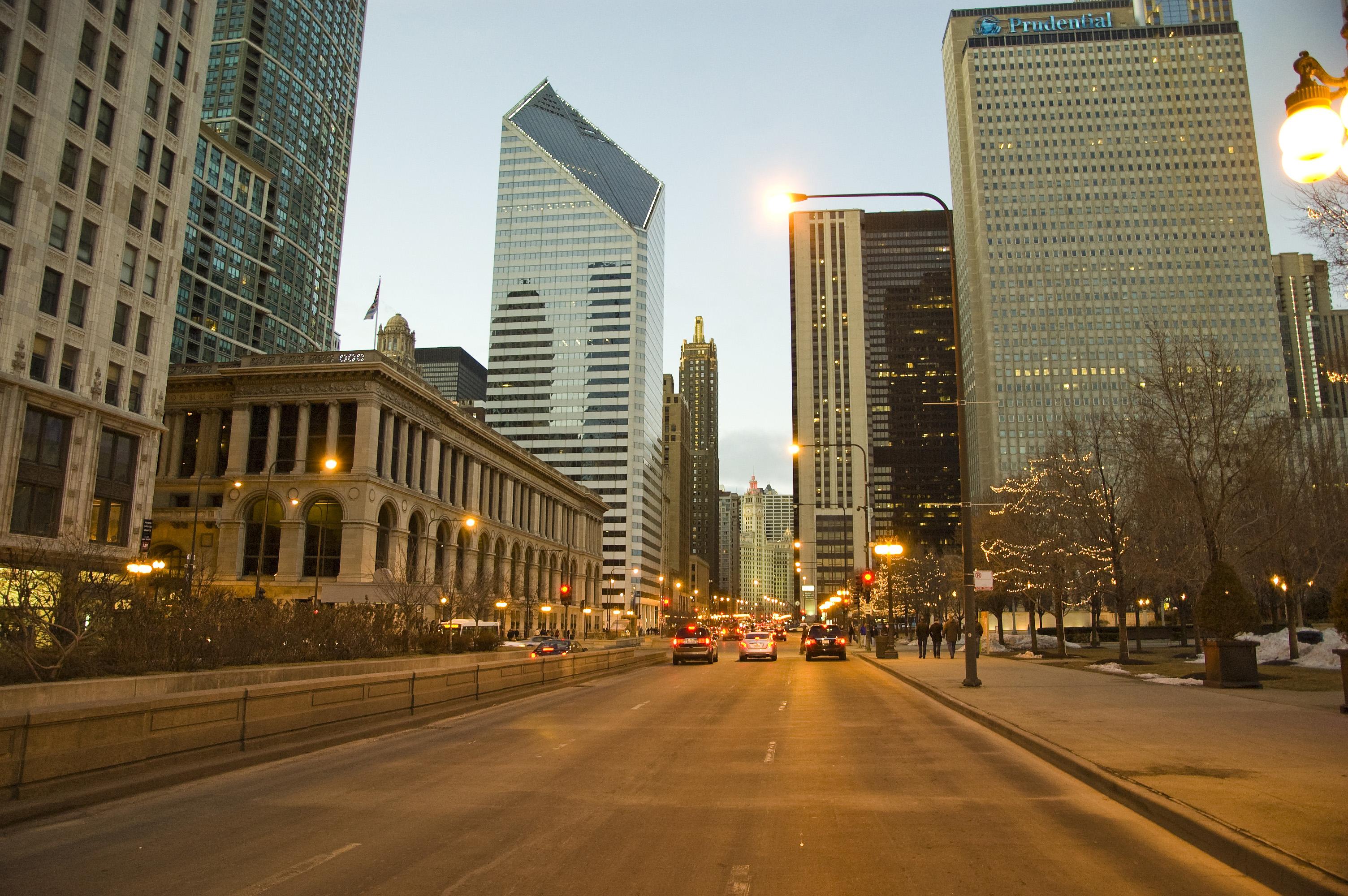 Обои ж/д дорога, небоскребы, chicago, чикаго. Города foto 19