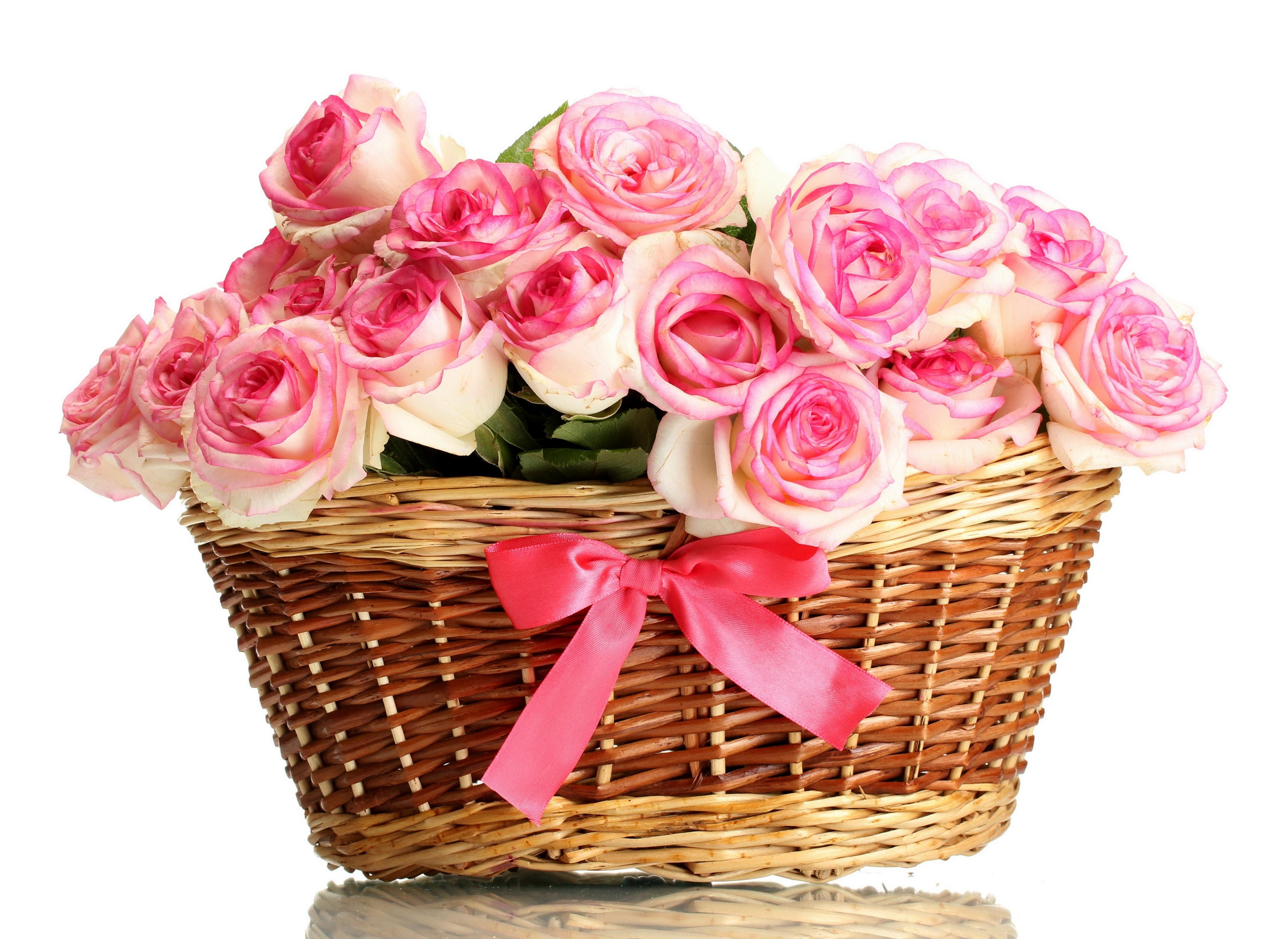 Открытки розы в корзинках