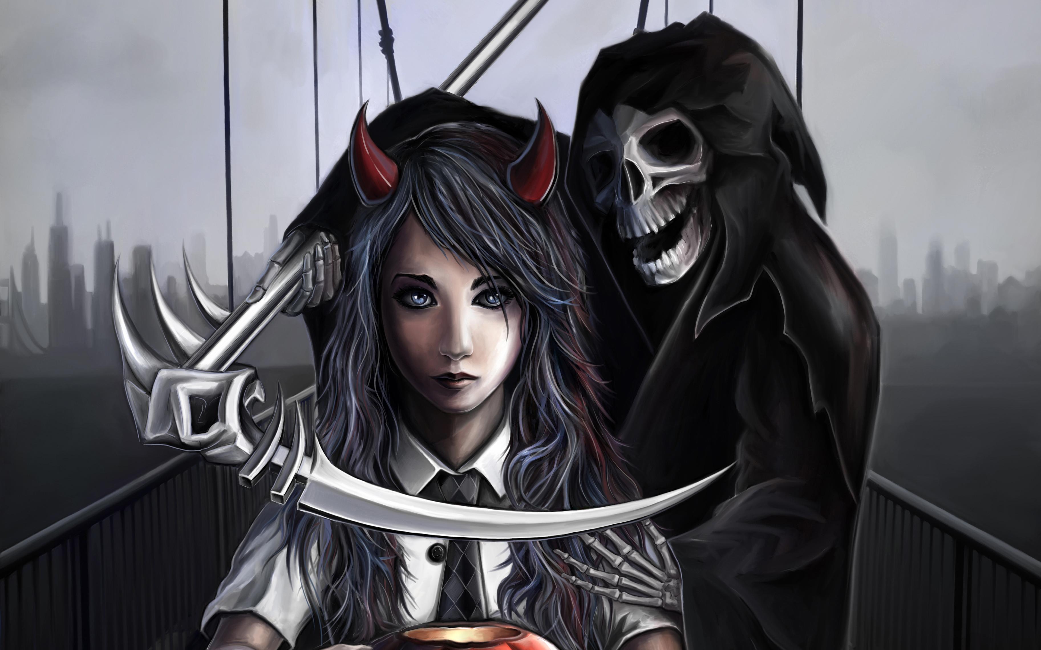 фэнтези графика женщина Grim Reaper  № 3256180 бесплатно