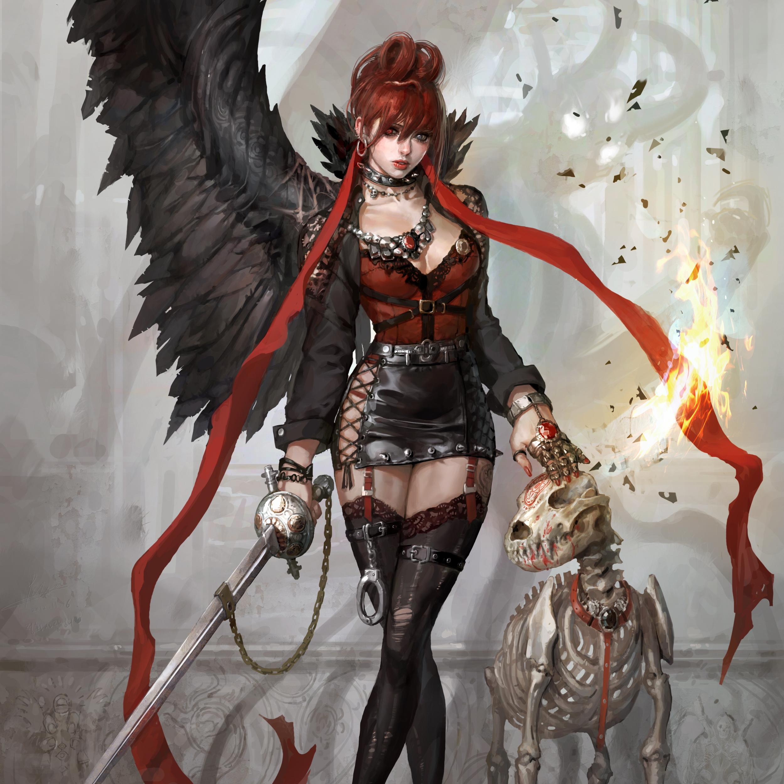 Whorelore redhead warrior erotica image