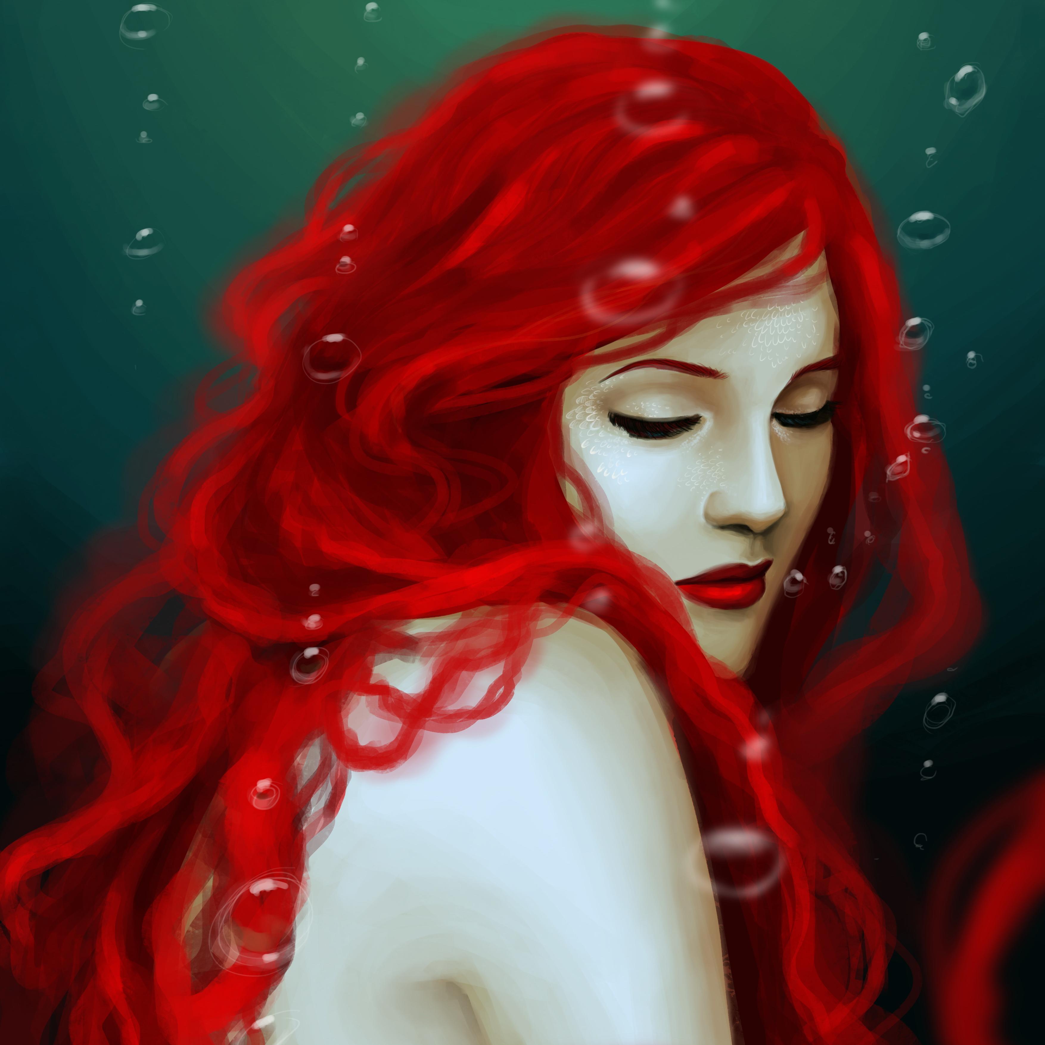 Черно белые картинки девушек с рыжими волосами 2 фотография