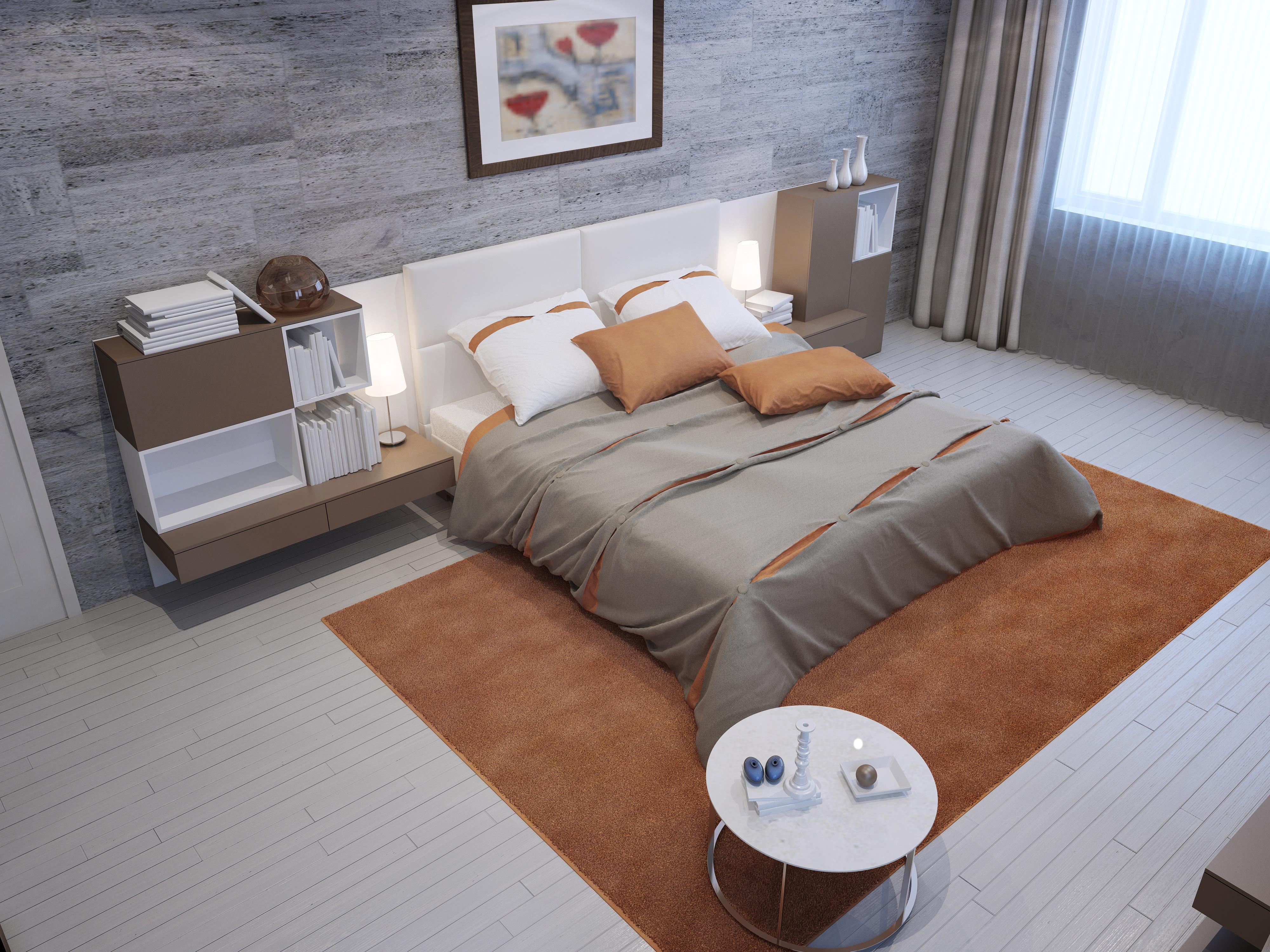 Интерьер ковры кровать  № 3537333  скачать