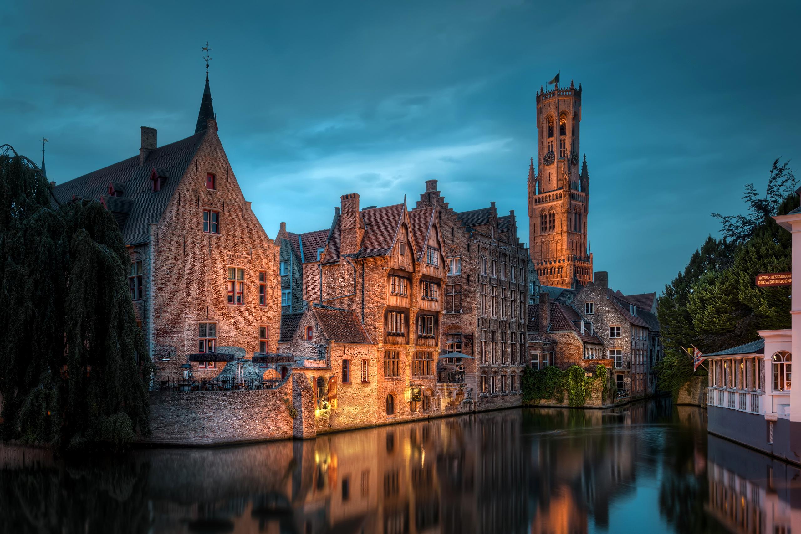страны архитектура река Бельгия Брюгге  № 1730899 загрузить