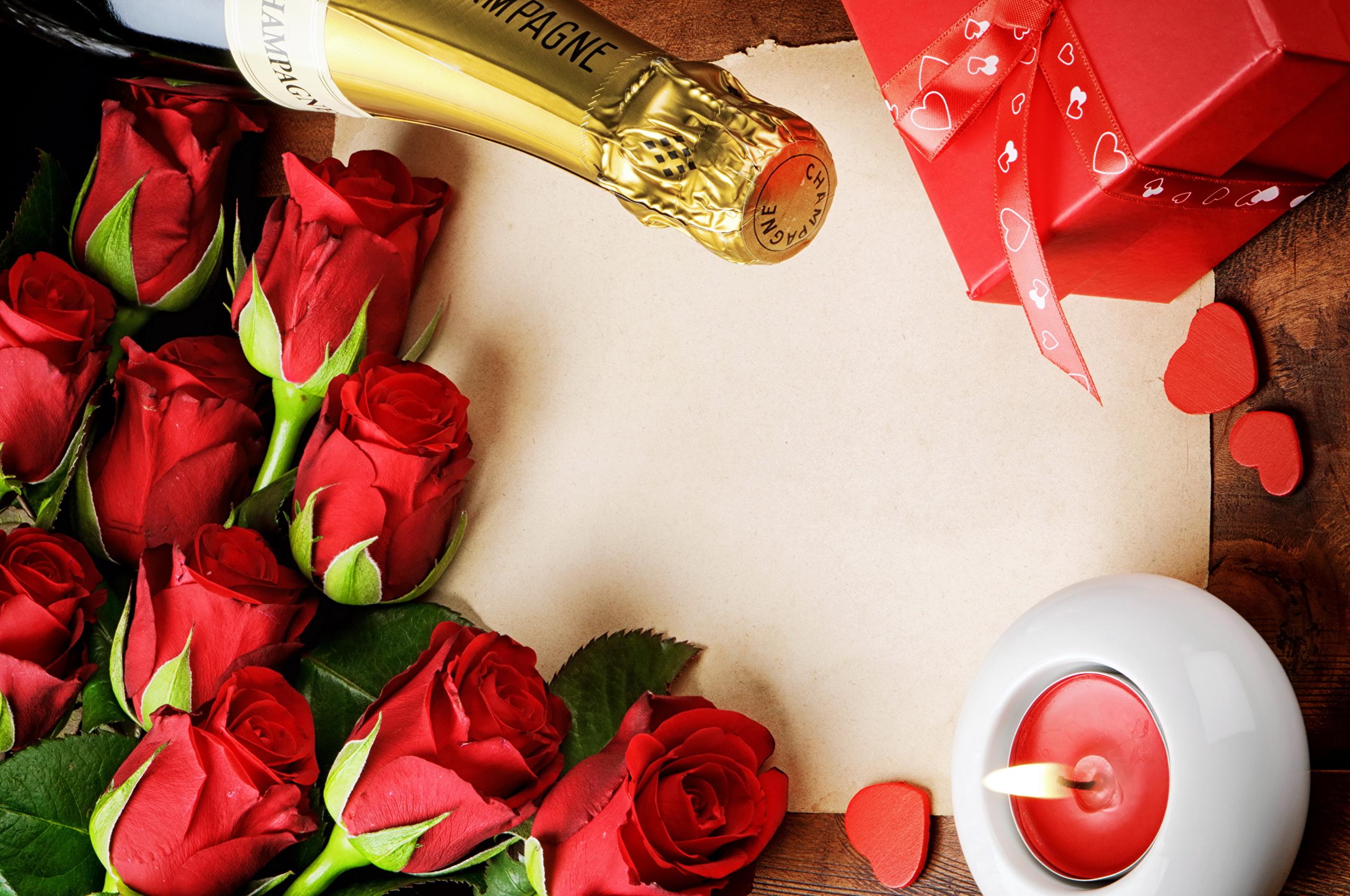 Цветы шампанское подарок фото