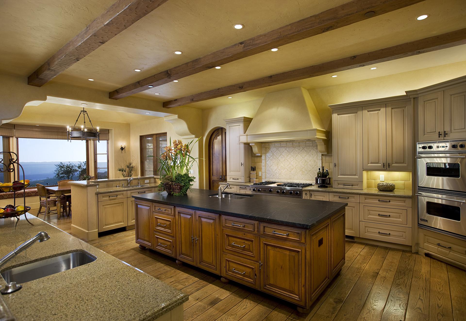Кухня в теплых тонах  № 889868 бесплатно