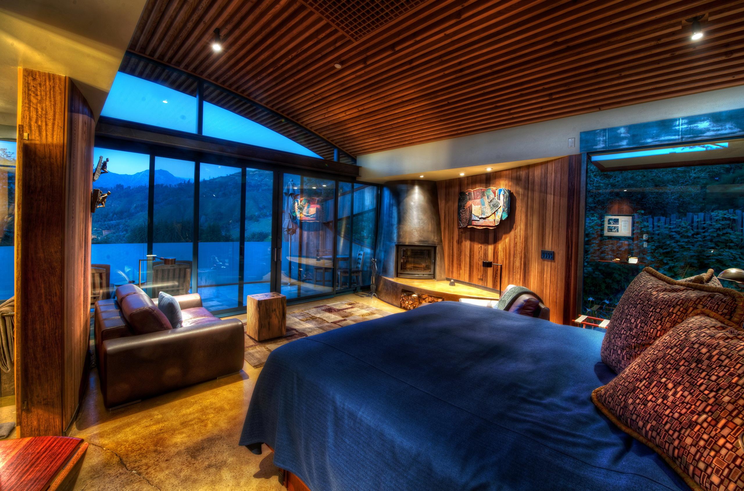 Интерьер спальня комната кровать  № 3537266 загрузить