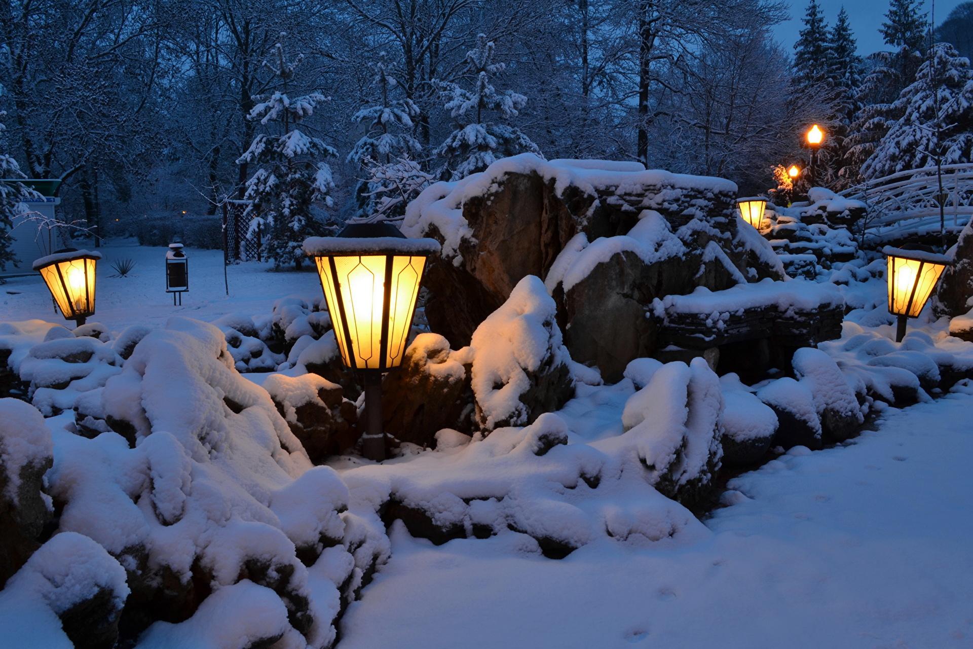 горы дом снег фонарь  № 147898 загрузить