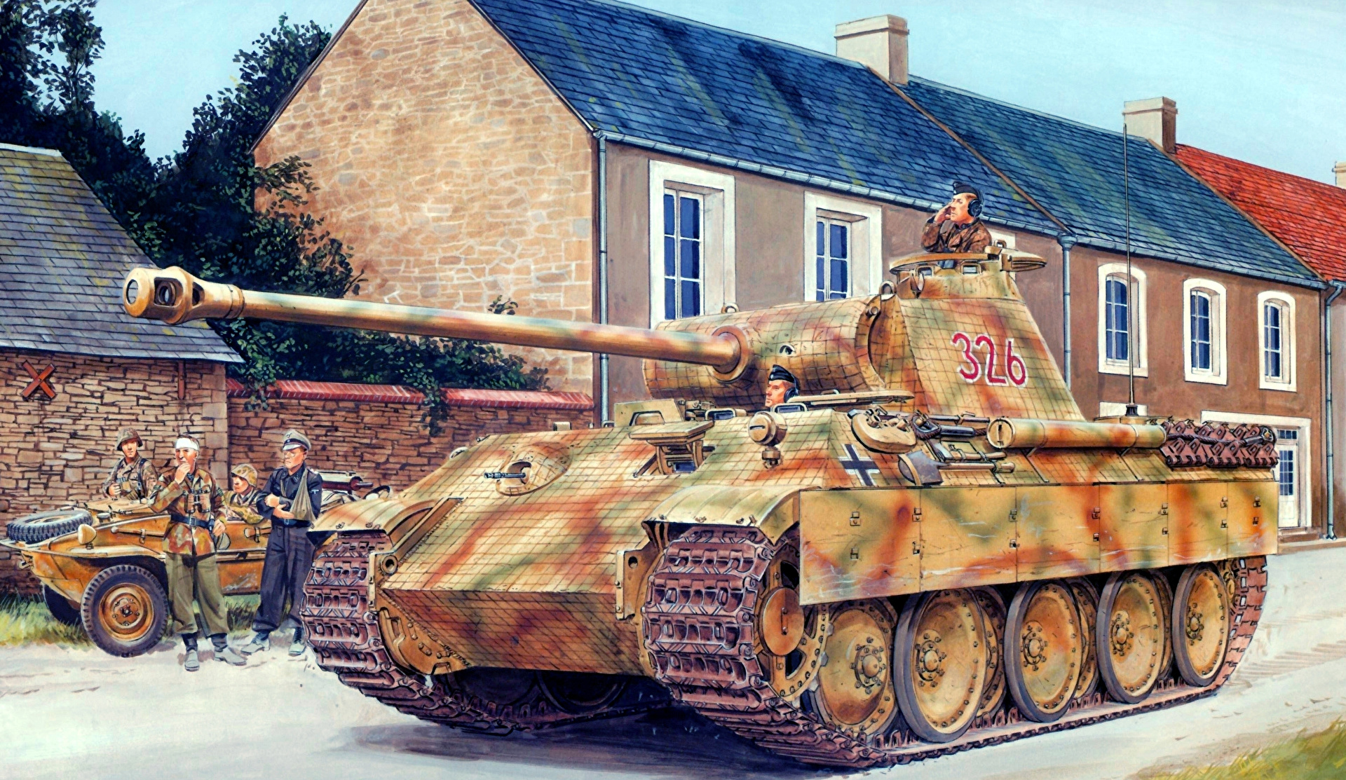 Germany WW2 Panther tank seized from pensioners cellar