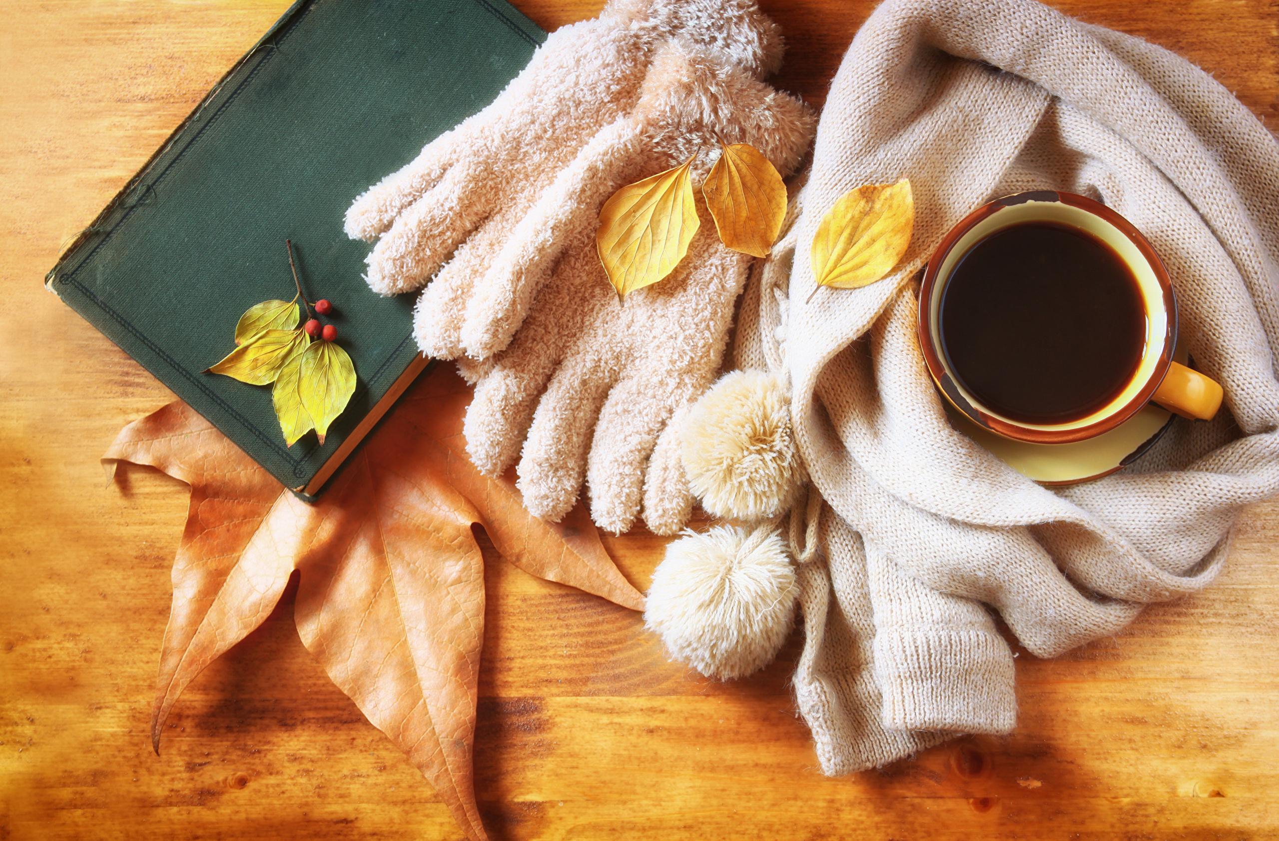 Обои на рабочий стол осень кофе уют