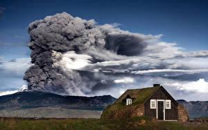 Обои Вулкан Природа