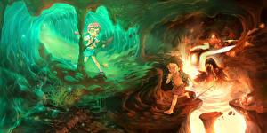 Обои Пещера Природа