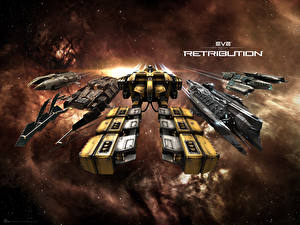 Обои EVE online Корабли Retribution Игры 3D_Графика Космос