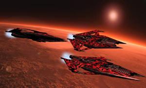 Обои Вавилон 5 Планеты Корабли cruiser narrow Фильмы Космос 3D_Графика фото