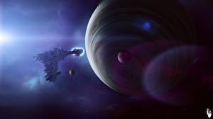 Обои Планеты Техника Фэнтези Корабли Фэнтези Космос фото