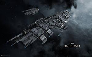 Обои Корабли EVE online Drake Игры Космос Фэнтези 3D_Графика фото