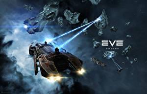 Обои EVE online Корабли Retriever Игры Космос Фэнтези 3D_Графика фото