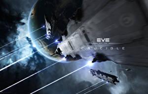 Обои EVE online Корабли Планеты Naga Игры Космос Фэнтези 3D_Графика фото