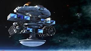 Обои Техника Фэнтези Звезды Корабли Фэнтези Космос фото