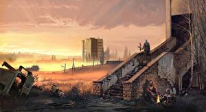 Обои STALKER Апокалипсис Лестница Pripyat Игры Фэнтези фото