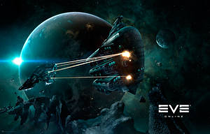 Обои EVE online Корабли Gallente Obelisk Игры Космос 3D_Графика фото