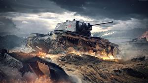 Обои World of Tanks Танки KB-1 Игры Армия фото