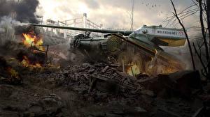 Обои World of Tanks Танки Wargaming Net Wo WG Amx 13 57 Gf Игры Армия фото