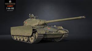 Обои World of Tanks Танки Т-44-100 Игры 3D_Графика фото