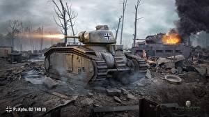 Обои World of Tanks Танки Pz.Kpfw.B2 740 (f) Игры 3D_Графика фото
