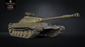 Обои World of Tanks Танки Т-22 СР Игры 3D_Графика фото
