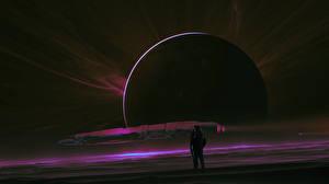 Обои Космонавты Планеты Корабли Космос фото