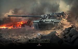 Обои World of Tanks Танки Conqueror Игры Армия фото