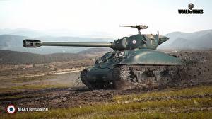 Обои World of Tanks Танки Грязь M4A1 Revalorise Игры 3D_Графика фото